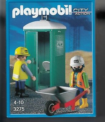 PORTABLE TOILET * PLAYMOBIL CONSTRUCTION NEW SEALED IN BAG *