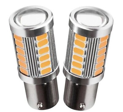 Bombillas Led Can Bus  P21W,1156, Bau15S Naranja,ambar,intermitente, 33 Smd.