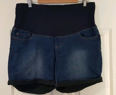Maternity Denim Shorts Size 16 Bub2B