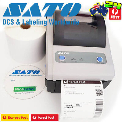 Sato CG408 Direct Barcode Label Thermal Printer USB/serial Desk ws408 4XL dymo