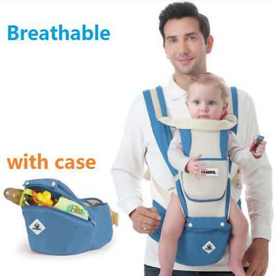 Newborn Baby Carrier Breathable Ergonomic Support Wrap Sling Backpack w/Hip Seat