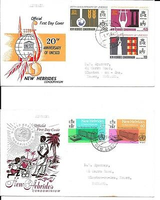 New Hebrides UNESCO and WHO First Day Covers