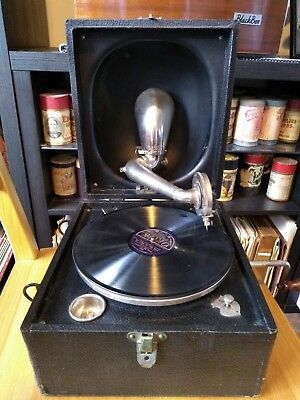 Decca Junior Portable Gramophone - early 1920s - Serviced