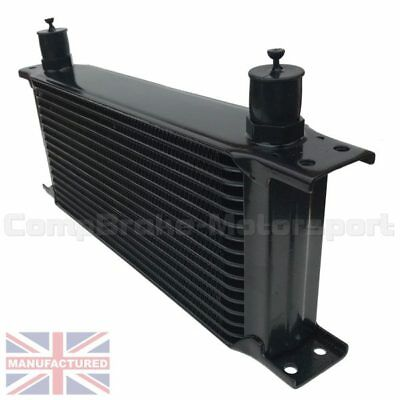 Universal16 Row An10 An-10 10An Engine Transmission Oil Cooler [Radiator] Black