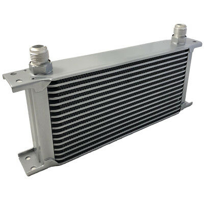Universal16 Row An10 An-10 10An Engine Transmission Oil Cooler [Radiator] Silver