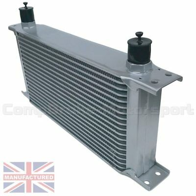 Universal19 Row An10 An-10 10An Engine Transmission Oil Cooler [Radiator] Silver
