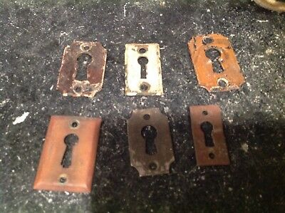 Vintage Key Hole Cover Lot Of Six  Antique Salvage Door Hardware