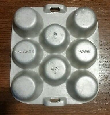 Vintage Antique Wagner Ware Aluminum Popover Muffin Pan R 478