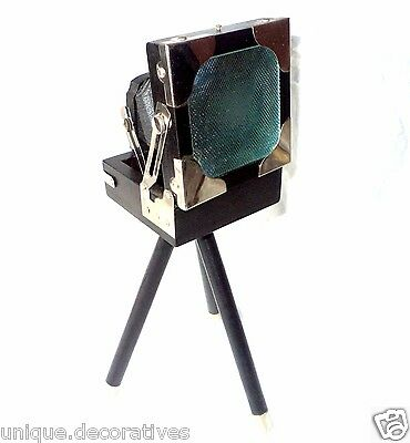 Old Style Vintage Design Camera Wooden Black Collectible Home Office Desk Decor