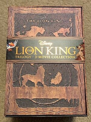 The Lion King Trilogy Box Set 3-Movie Collection Blu-ray Discs