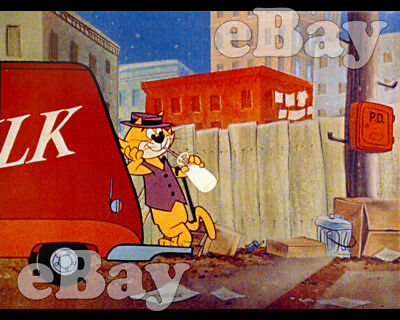 Rare! TOP CAT Cartoon Color TV Photo HANNA BARBERA Studios END CREDITS SCENE