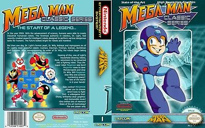 Nintendo Nes - Universal replacement case Cover Mega Man all covers available