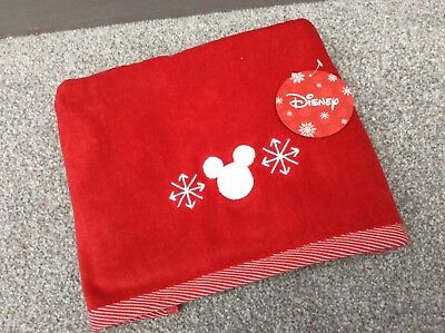 NEW Disney Primark Mickey Mouse Red & White Hand / Guest Towel Kitchen Xmas