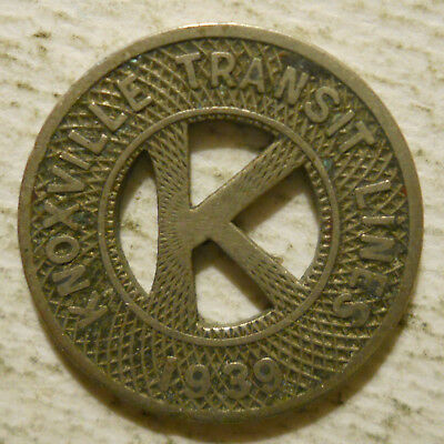 Knoxville Transit LInes (Tennessee) transit token - TN430T