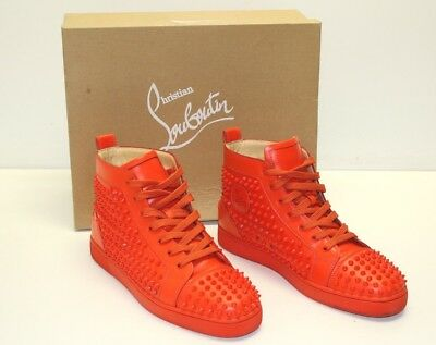 9a8c6a9145f Christian Louboutin Calfskin Louis Spikes Flat Mens Sneakers Capucine R097  Sz 45