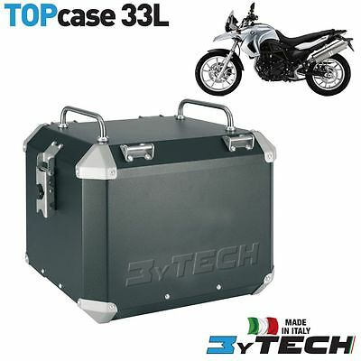 Aluminium 33 Lt Top Case Box Seitenkoffer With Rack Bmw 650 F Gs K72 '09/'12