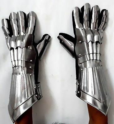 Roman Gothic Templar Functional-Armour-Gloves Knight Medieval Barbute Gauntlets