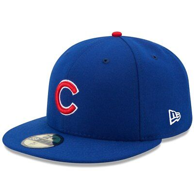 CHICAGO CUBS HOME BLUE New Era 5950 MLB Cap Fitted On Field Game Hat