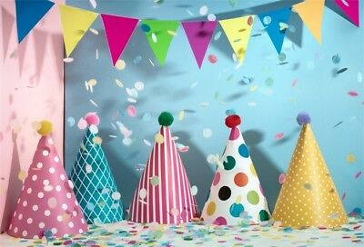 Birthday Festive Photo Backdrop 7x5ft Party Banner Photography Background