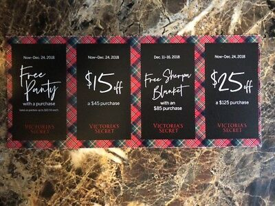 Victoria Secret $25 Off $125 and $15 Off $45