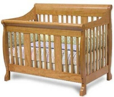 Nursery Convertible Baby Crib Bed,  Furniture Woodworking Plans on Paper