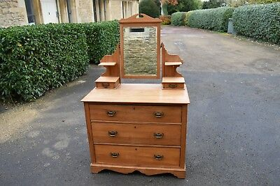 A Victorian Satin Birch Dressing Chest