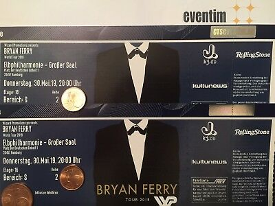 2 Tickets - BRYAN FERRY - ELBPHILHARMONIE in HAMBURG ! 30.05.19 - AUSVERKAUFT !!