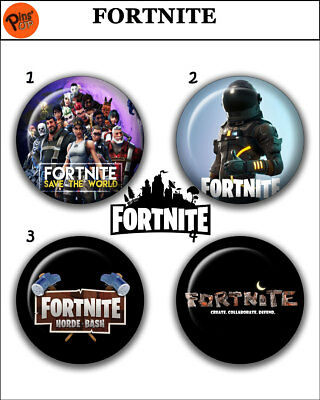 """Collection 4 Pin/Button/Badge 'Fortnite' Ø32mm/1,25"""""""