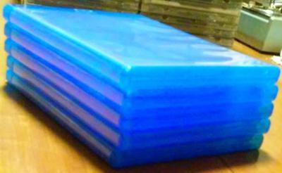Set of 5 New, Empty, Blue, Blu-ray Triple (holds 3 discs) DVD Replacement Cases