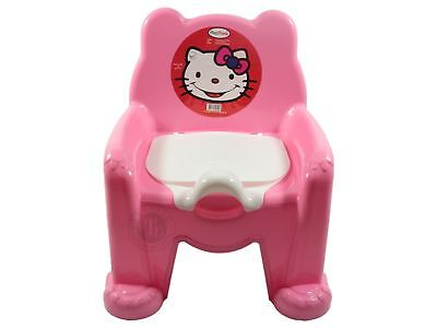 Pink Easy Clean Kids Toddler Potty Training Chair Seat Removable Potty Lid New