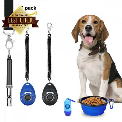 CANI Dog Clicker Training Pet Clickers with Wrist Strap Ultrasonic Whistle...