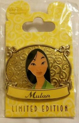 Disney Mulan Gold Plaque Princess Pin LE 300. Imagineer Exclusive! Very Rare!!!