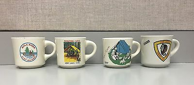 4 Scouting Camps Boy Scout Mugs: Lost Lake, Rifle River, Tapico,& Lakota USA