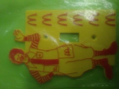 Vintage Ronald McDonald light switch cover rare