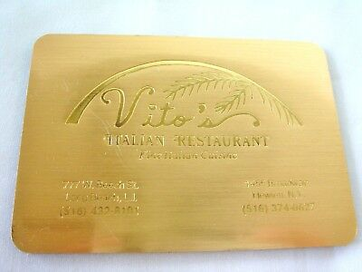 RARE Vintage Vito's Italian Restaurant Promo Magnetic Address Book, SHIPS FREE