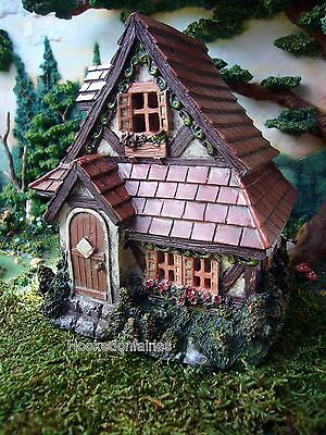 Miniature Fairy Garden Cottage House with Shingle Roof  DA 30005337