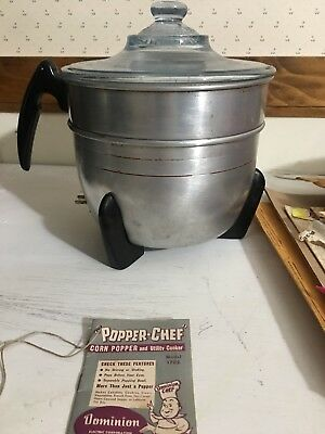 "1950""s Dominion Electric Popcorn Popper With Cord!"