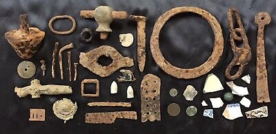 Lot 38 Relics Dug Civil War Battlefield Campsite Confederate Cs Csa Cw Excavated