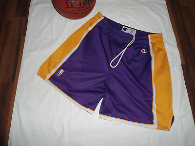 Champion NBA Shorts , Gr.XL , Los Angeles Lakers , violet / yellow / white