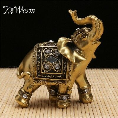 Feng Shui Elegant Elephant Trunk Statue Decoration Home and Gift Figurine Wealth