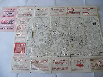 Barnetts Official Street Plan Of High Wycombe From About 1962 Sixties Adverts