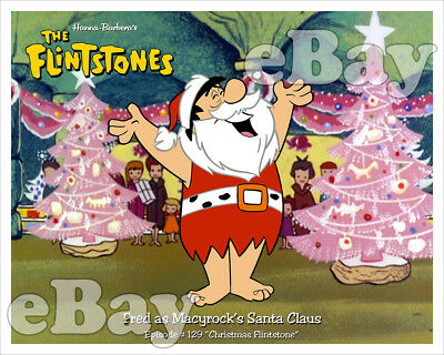 Rare! CHRISTMAS FLINTSTONE Cartoon Color TV Photo #3 HANNA BARBERA Studios