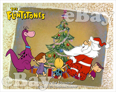 Rare! CHRISTMAS FLINTSTONE Cartoon Color TV Photo #5 HANNA BARBERA Studios