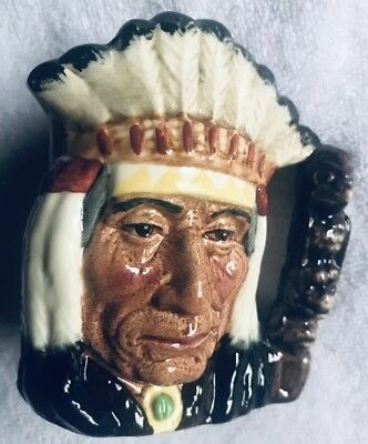 ROYAL DOULTON Porcelain Toby Mug NORTH AMERICAN INDIAN D6614 Dated 1966 ENGLAND