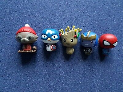 Funko Pint Size Heroes Marvel Holiday Set Of 5 Rare In Uk