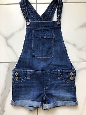 Gap Kids Denim Blue Jean Short Overalls Girls S