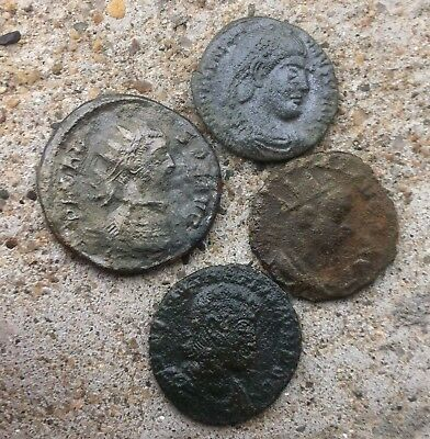 LOT OF 4 ANCIENT ROMAN  COINS(need fine cleaning)