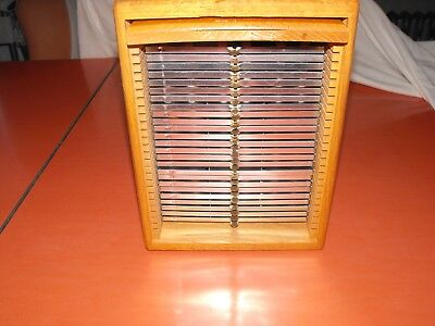 Vtg Eberbach Oak Wood Microscope Slide Cabinet with trays