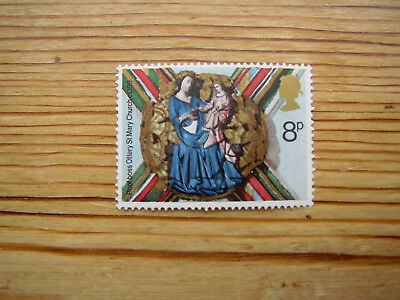 MNH 8p stamp Roof boss Ottery St Mary Church Devon Virgin and Child Xmas 1974 GB