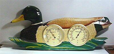 Vintage Sunbeam Duck Wall Hanging Thermometer / Barometer  W/  Key